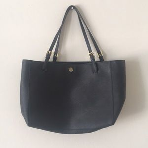 Navy Tory Burch Navy Emerson Buckle Tote